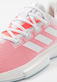 adidas Performance - SOLEMATCH BOUNCE - Multicourt tennis shoes - footwear white/signal pink - 5