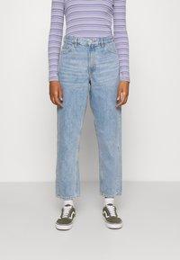 Monki - KYO - Straight leg jeans - blue medium dusty - 0