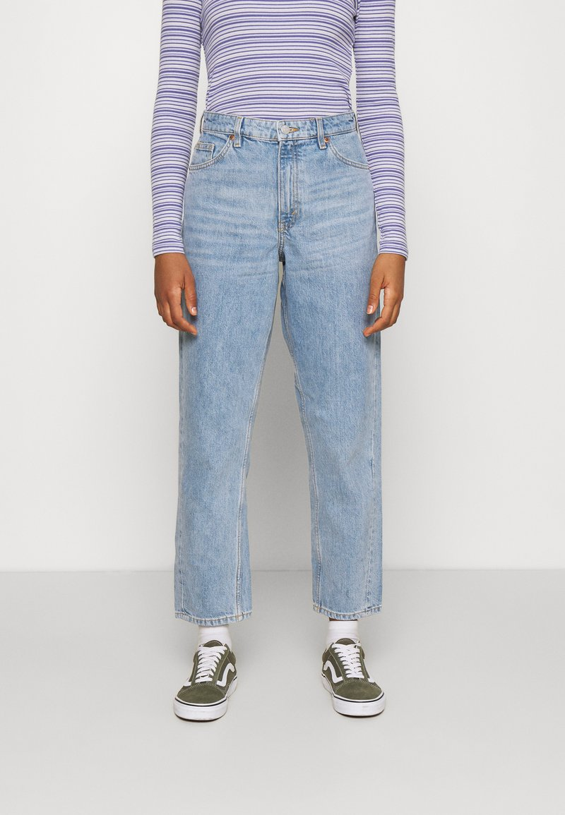 Monki - KYO - Straight leg jeans - blue medium dusty