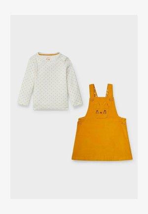 SET - Day dress - white / orange