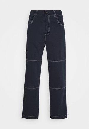 DRILL TROUSER WITH TOPSTITCH - Džíny Relaxed Fit - navy