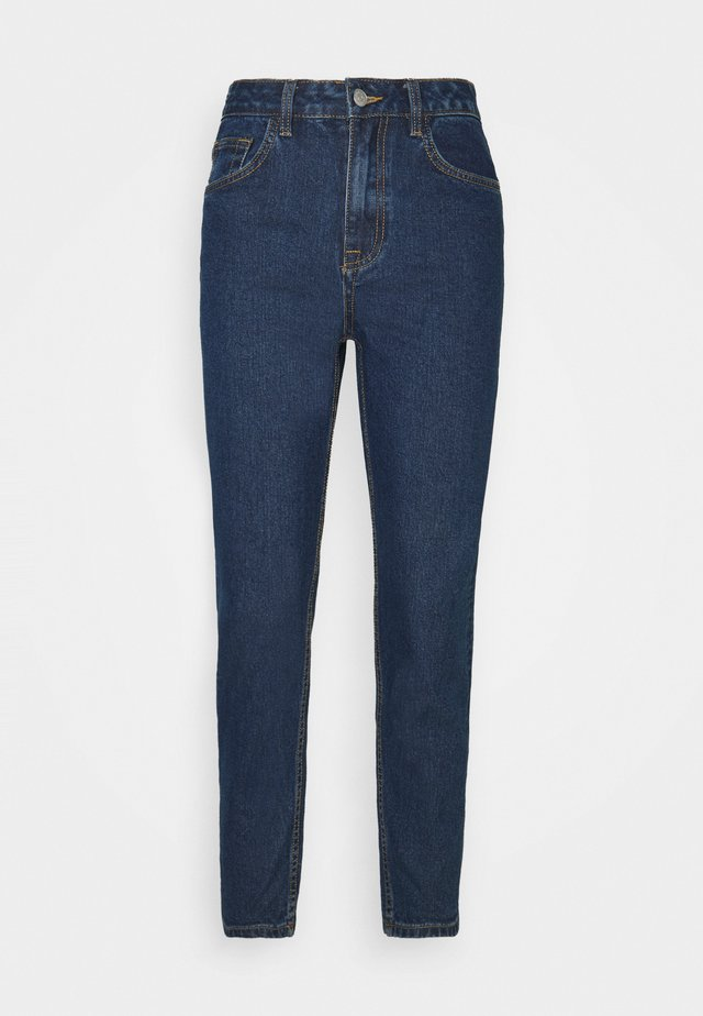 OBJVINNIE MOM - Jeans baggy - dark blue denim