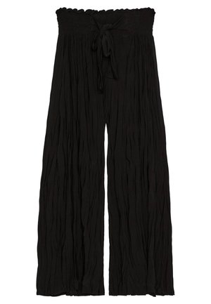 MIT TEXTUR - Trousers - black