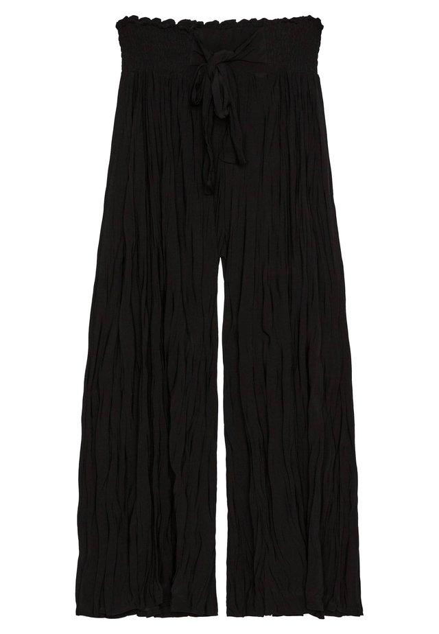 MIT TEXTUR - Pantalon classique - black