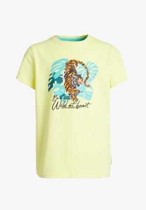 Print T-shirt - bright yellow