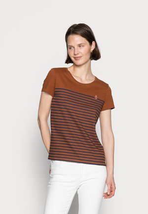 WITH EMBRO - T-shirt print - amber brown