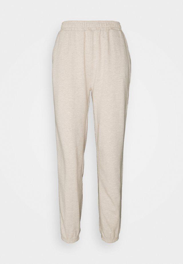 Regular fit joggers without drawstring - Pantaloni sportivi - beige