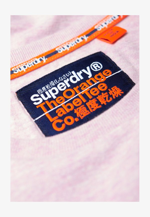 Superdry T-shirt basic - pink/rÓżowy Odzież Męska FAKI
