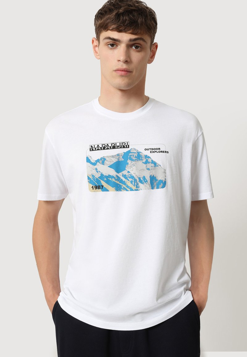 Napapijri - SULE - Print T-shirt - white graphic