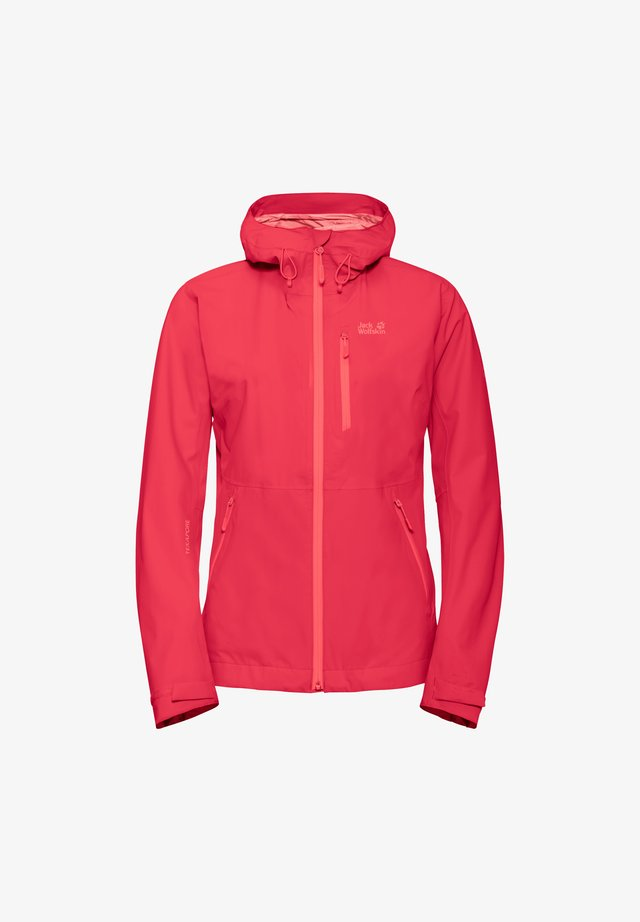 EAGLE PEAK - Waterproof jacket - tulip red