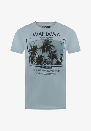 RIVLUKAS - Print T-shirt - hellblau (mjd)