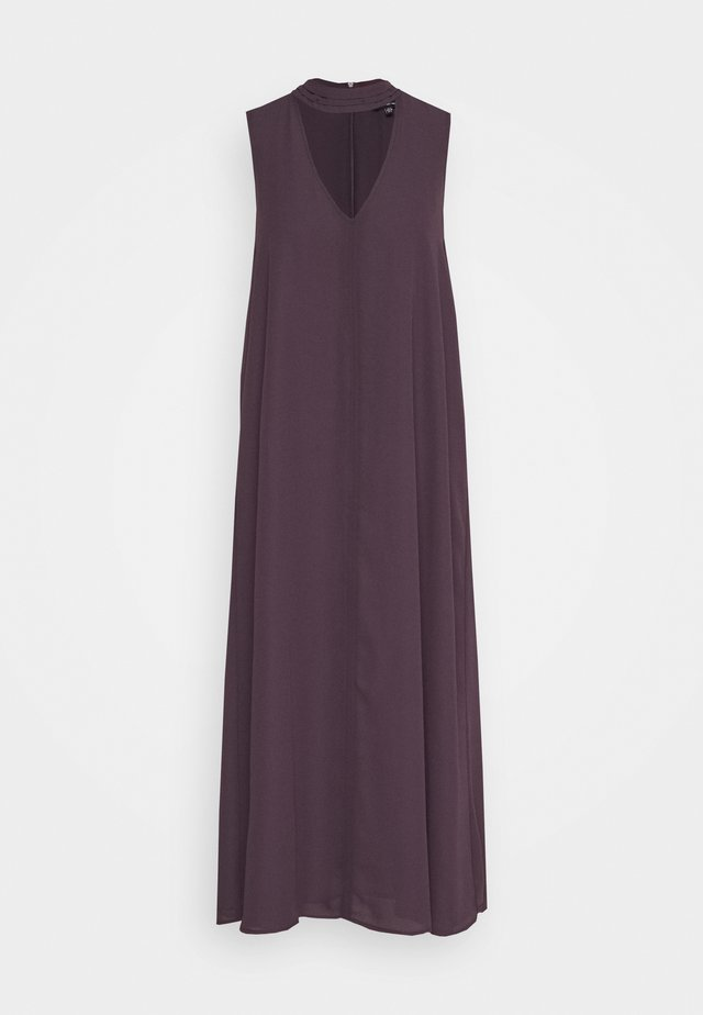 CUTOUT VNECK DRESS - Day dress - dark plum