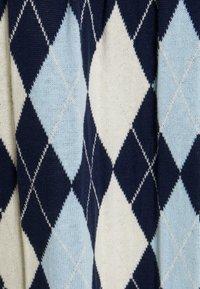 Monki - YANNI - A-linjainen hame - blue/off-white - 2