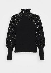 Miss Selfridge - PEARL PIE CRUST JUMPER - Stickad tröja - black - 0