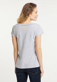 Schmuddelwedda - Print T-shirt - light gray melange - 2