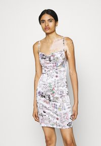 NEW girl ORDER - SCRIBBLE DRESS - Cocktail dress / Party dress - pink - 0