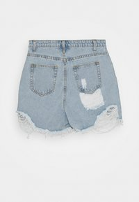 Missguided Tall - EXTREME FRAY RIOT - Shorts di jeans - light blue - 1
