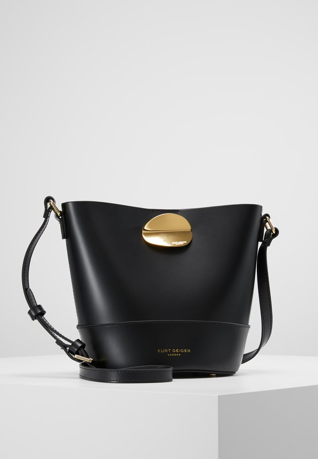 PETAL BUCKET BAG - Olkalaukku - black