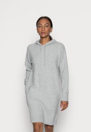 FLEX RELAXED HOODED KNEE  - Jumper dress - light grey heather