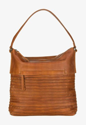 RIFFEL HAPPO - Handbag - dark honey