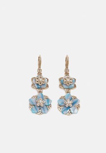 FLOWER DROP - Earrings - gold-coloured/blue
