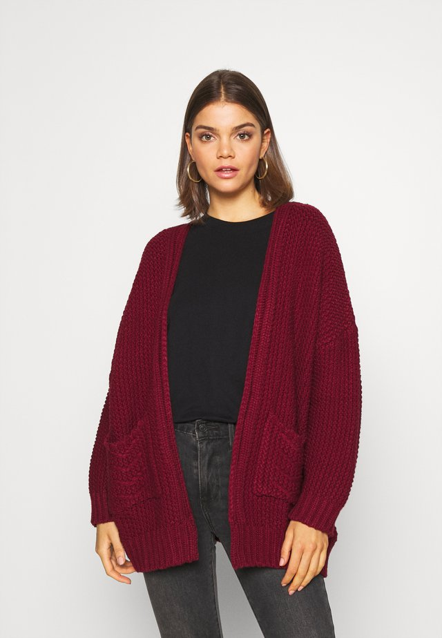 LADIES CARDIGAN - Chaqueta de punto - dark red