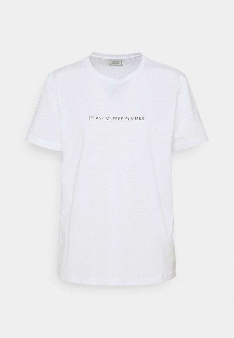 Progetto Quid - GENZIANA - Print T-shirt - white