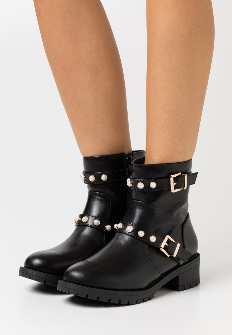 Bianco Wide Fit - BIAPEARL FASHION BOOT WIDE FIT  - Bottines - black