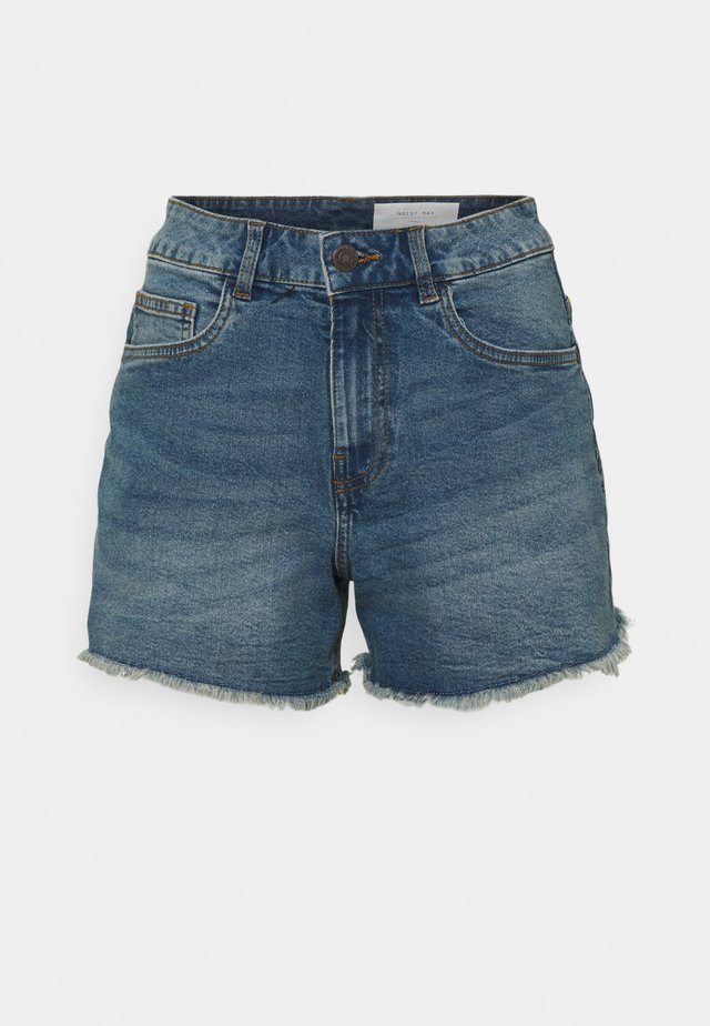 NMKATY SLIM MOM - Jeansshorts - medium blue denim