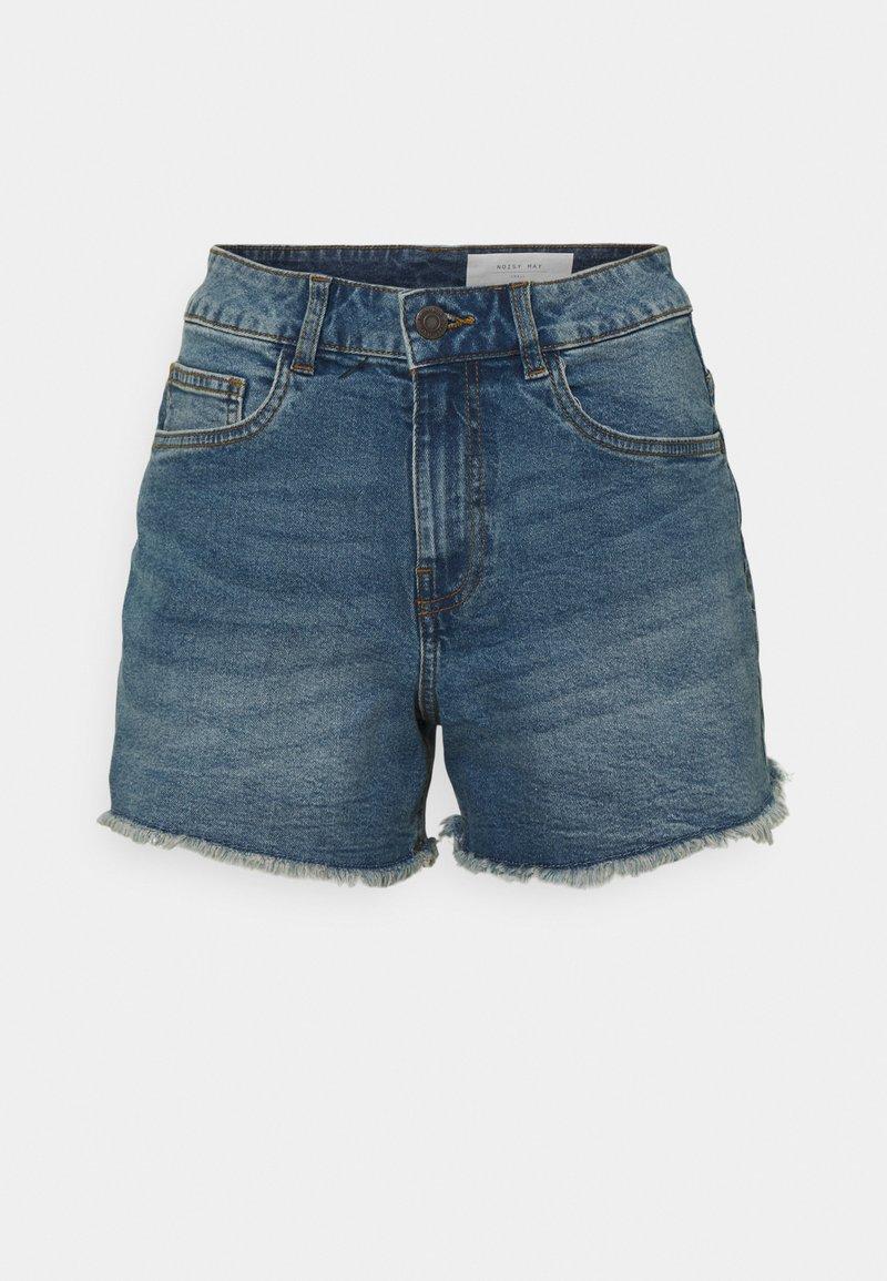 Noisy May Petite - NMKATY SLIM MOM - Shorts di jeans - medium blue denim