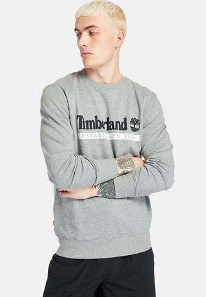 Sweatshirt - med grey heather white