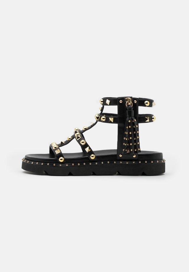 MARIA  - Sandaalit nilkkaremmillä - black