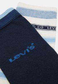 Levi's® - LABEL STRIPE REGULAR CUT 2 PACK - Socks - blue combo - 1