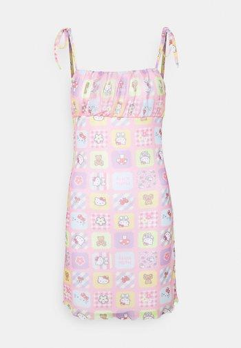 PATCHWORK BODYCON DRESS - Tubino - multicoloured
