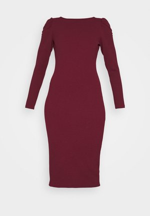 RUCHED SLEEVE BODYCON DRESS - Etuikleid - purple