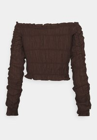 Nly by Nelly - ALL OVER RUCHED - Long sleeved top - brown - 1