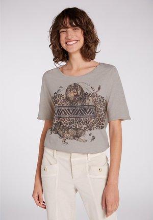 T-shirt print - light stone