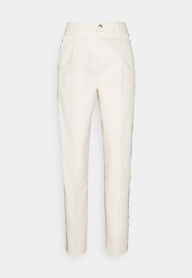 BLEND TAPERED ANKLE PANT - Kalhoty - ivory