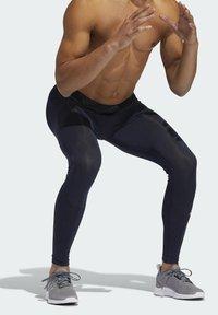 adidas Performance - TECHFIT LONG TIGHTS - Leggings - blue - 4