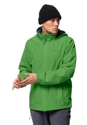 Hardshell jacket - basil green