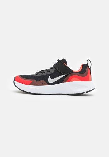 WEARALLDAY - Sneakers laag - black/white/university red/bright crimson