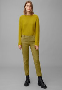 Marc O'Polo - TORUP - Trousers - olive green - 1