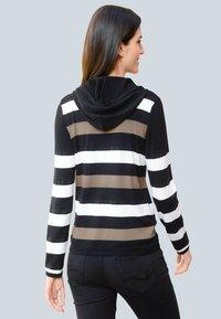 Alba Moda - Zip-up sweatshirt - schwarz,off-white,taupe - 2
