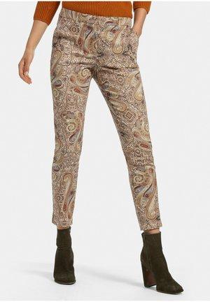 7/8-HOSE - Trousers - beige/multicolor