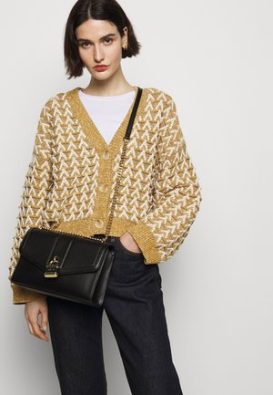 ELLA SHOULDER FLAP PEBBLE - Skulderveske - black/gold
