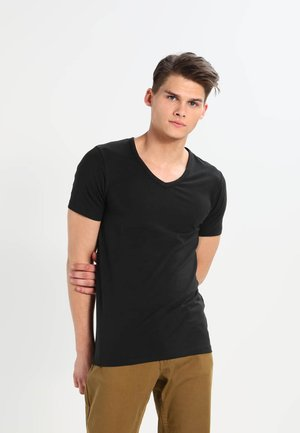 BASIC V-NECK  - T-shirt - bas - black