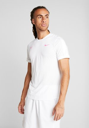 RAFAEL NADAL - Camiseta estampada - white/china rose
