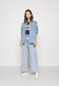 Tommy Jeans - COLLEGIATE LOGO - T-shirt print - twilight navy - 1