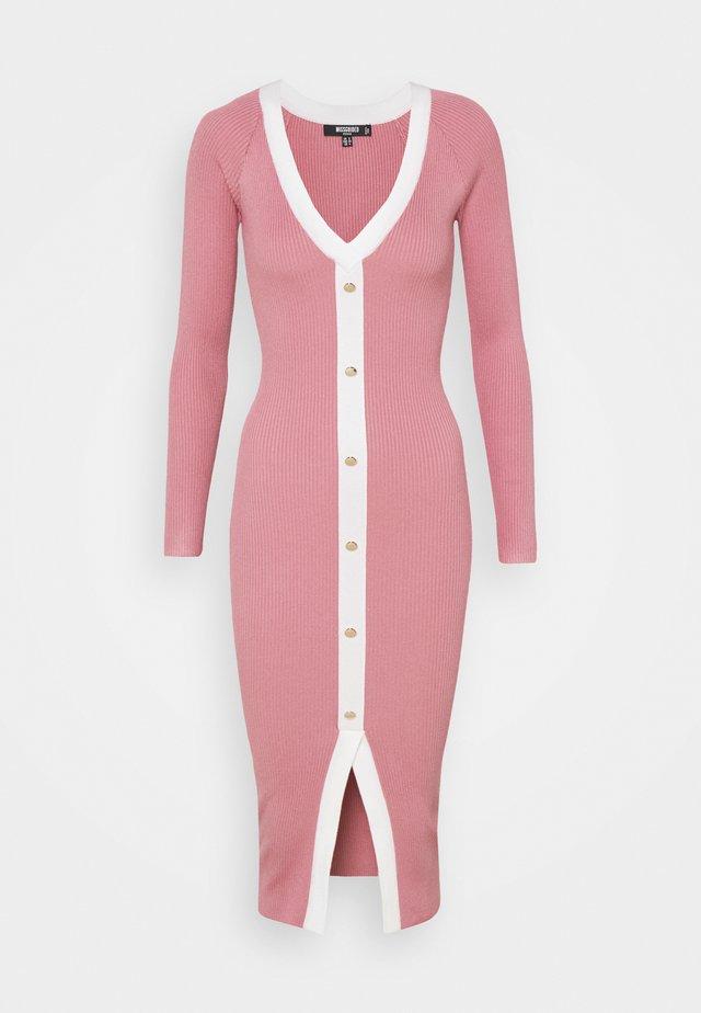 BUTTON THROUGH CARDI DRESS - Jumper dress - pink