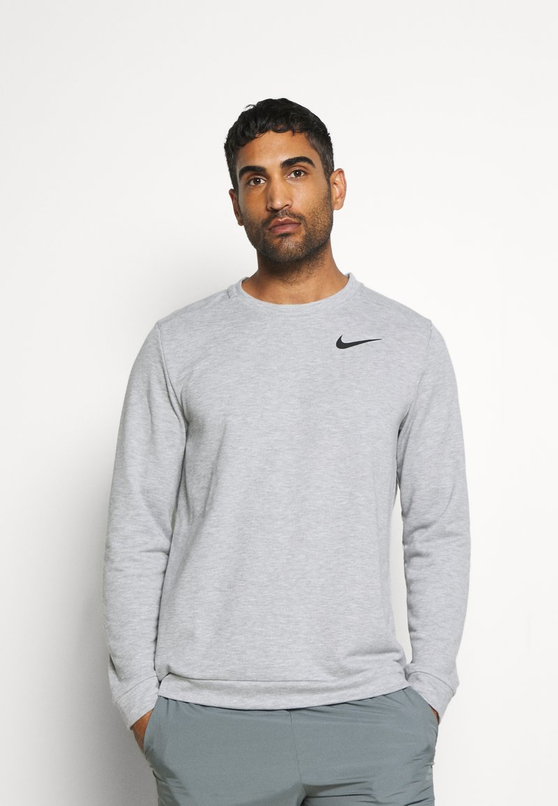 Nike Performance - DRY CREW - Sweatshirts - grey heather